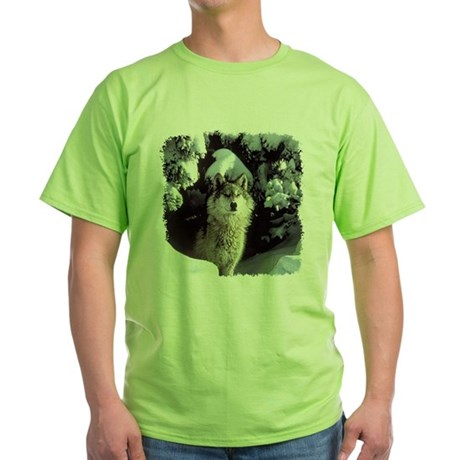 Winter Wolf Green T-Shirt
