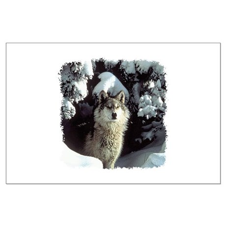 Winter Wolf Large Poster