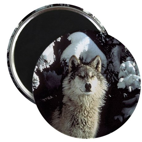 "Winter Wolf 2.25"" Magnet (100 pack)"