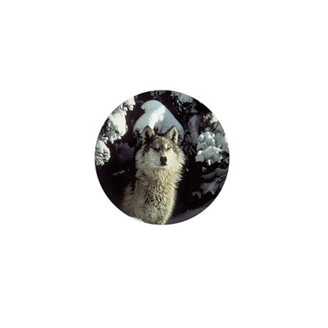 Winter Wolf Mini Button (100 pack)