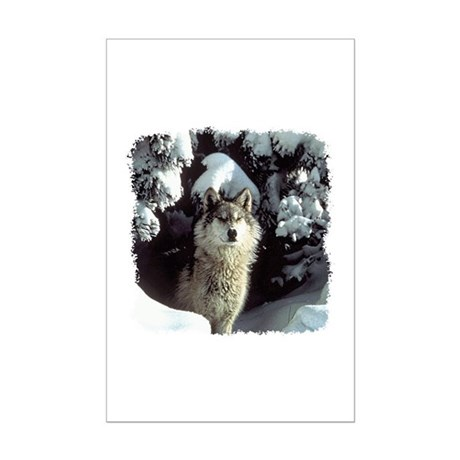 Winter Wolf Mini Poster Print