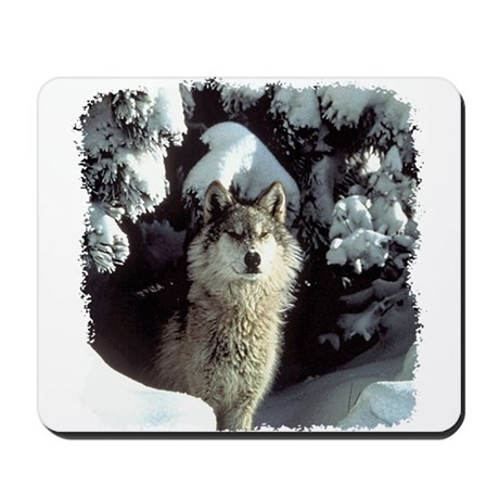 Winter Wolf Mousepad