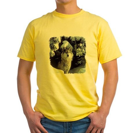 Winter Wolf Yellow T-Shirt
