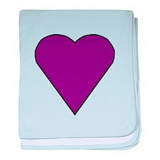 Purple Heart baby blanket