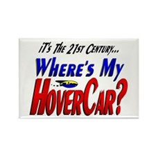 Where's My HoverCar Rectangle Magnet
