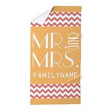Personalized Mr. & Mrs. Beach Towel