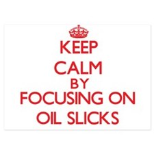 Keep Calm by focusing on Oil Slicks Invitations