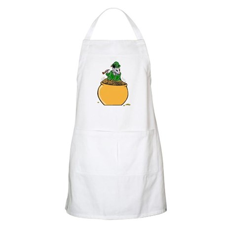 Possum Leprechaun BBQ Apron