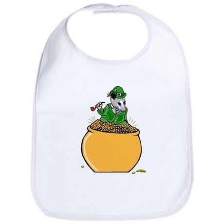 Possum Leprechaun Bib