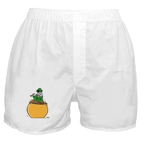 Possum Leprechaun Boxer Shorts