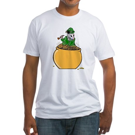 Possum Leprechaun Fitted T-Shirt