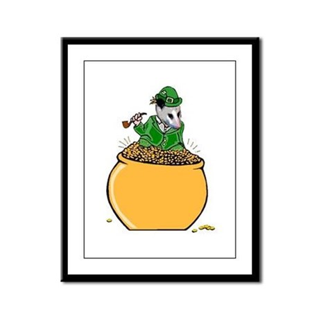 Possum Leprechaun Framed Panel Print