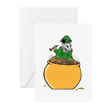 Possum Leprechaun Greeting Cards (Pk of 10)