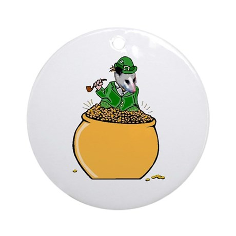 Possum Leprechaun Ornament (Round)