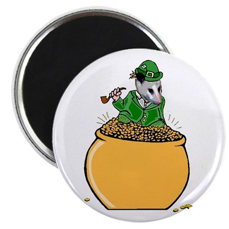 Possum Leprechaun 2.25&quot; Magnet (10 pack)