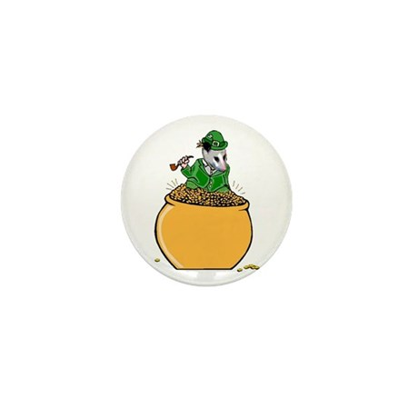 Possum Leprechaun Mini Button