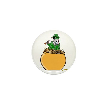 Possum Leprechaun Mini Button (100 pack)