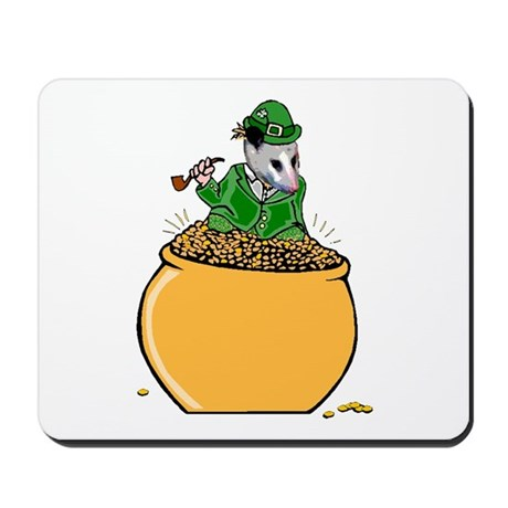 Possum Leprechaun Mousepad