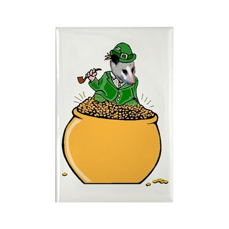 Possum Leprechaun Rectangle Magnet