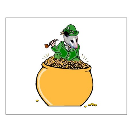 Possum Leprechaun Small Poster