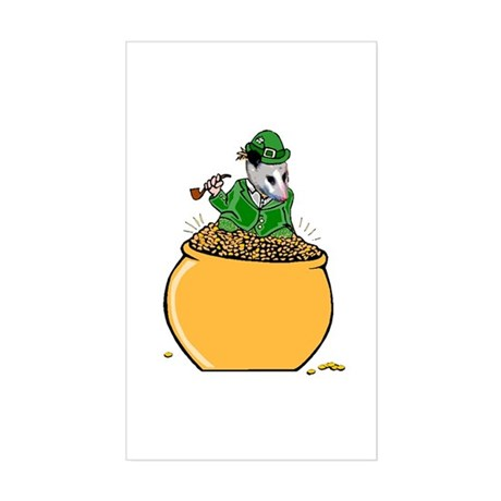 Possum Leprechaun Rectangle Sticker