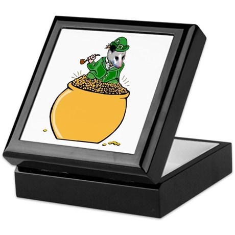 Possum Leprechaun Keepsake Box