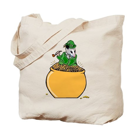 Possum Leprechaun Tote Bag