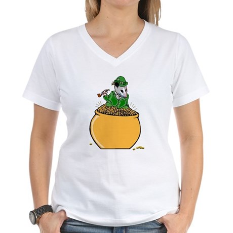 Possum Leprechaun Women's V-Neck T-Shirt