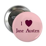 &quot;I HEART Jane Austen&quot; Button