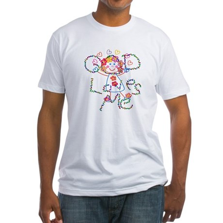 God Loves Me Fitted T-Shirt