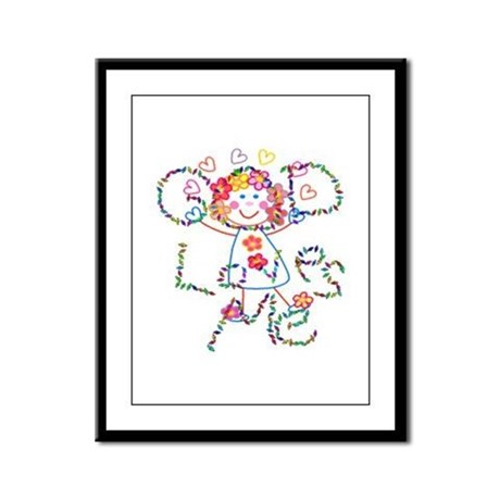 God Loves Me Framed Panel Print