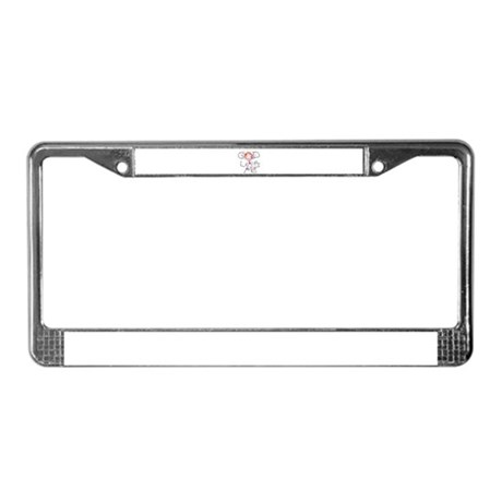 God Loves Me License Plate Frame