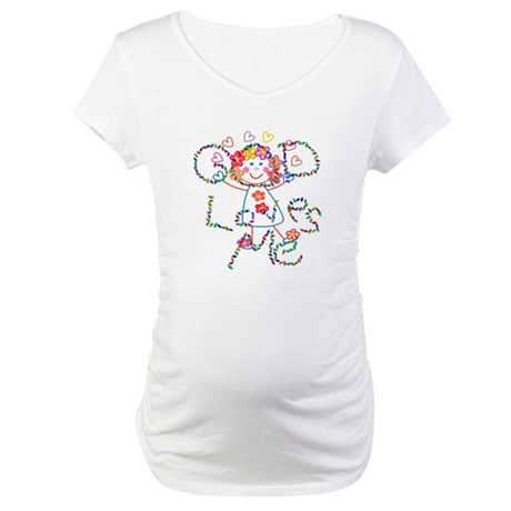 God Loves Me Maternity T-Shirt