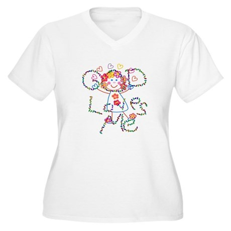God Loves Me Women's Plus Size V-Neck T-Shirt