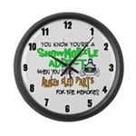 Snowmobile Theme Large Wall Clock