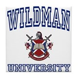 WILDMAN University Tile Coaster