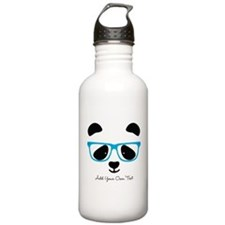 Cute Panda Blue Water Bottle