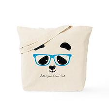 Cute Panda Blue Tote Bag
