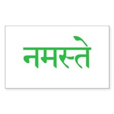 namaste_green_large_wall_clock Decal