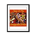 Jesus Designated Driver Framed Panel Print