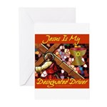 Jesus Designated Driver Greeting Cards (Package of