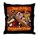 Jesus Designated Driver Throw Pillow