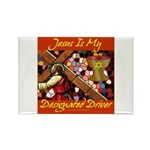 Jesus Designated Driver Rectangle Magnet