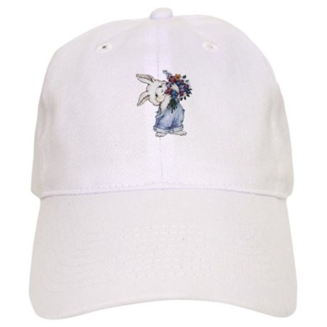 Bunny with Flowers Cap