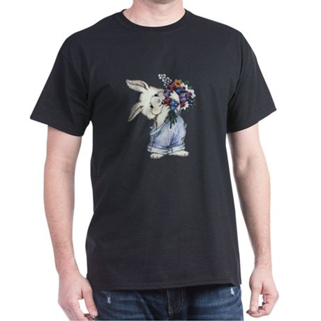 Bunny with Flowers Dark T-Shirt