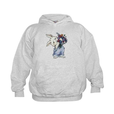 Bunny with Flowers Kids Hoodie