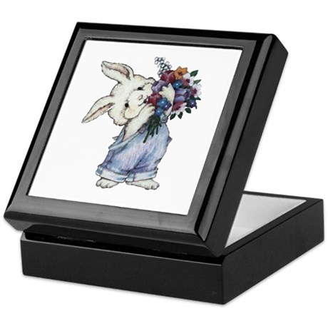 Bunny with Flowers Keepsake Box
