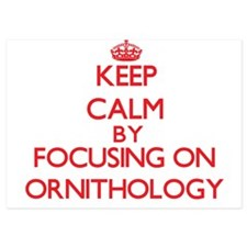 Keep Calm by focusing on Ornithology Invitations