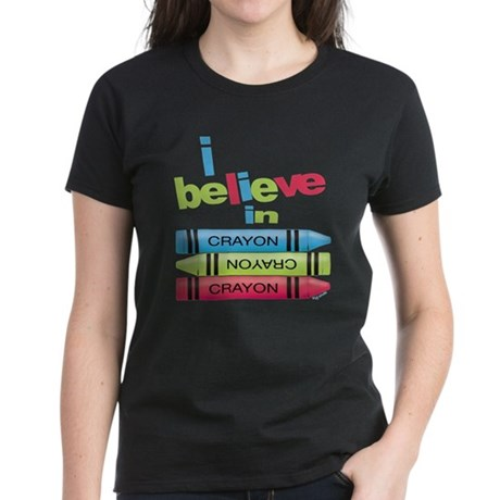 I believe in colors! Women's Dark T-Shirt