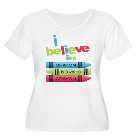 I believe in colors! Women's Plus Size Scoop Neck